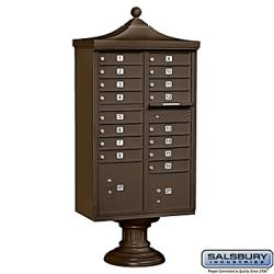 Salsbury Regency Decorative Cluster Box Unit - USPS Access - Thumbnail 1