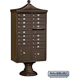Salsbury Regency Decorative Cluster Box Unit - USPS Access