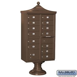 Salsbury Regency 13-Box Decorative Cluster Mail Box Unit - USPS Access