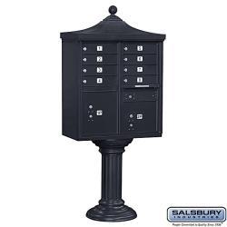 Salsbury Regency Eight-Box Decorative Cluster Mail Box Unit - USPS Access