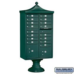 Salsbury Regency Decorative Cluster Mail Box Unit with Outgoing Mail - USPS Access