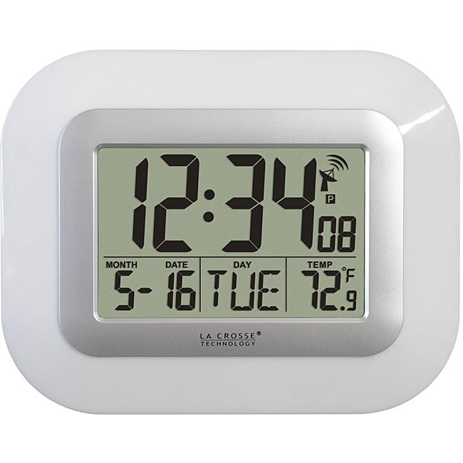 La Crosse Technology WT-8005U-W Atomic Clock with Temperature