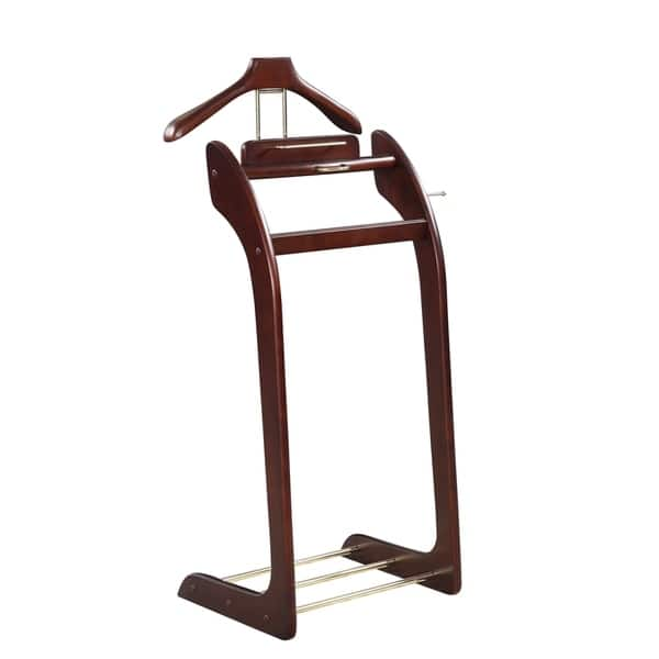 Men S Suit Brown Wood Valet Stand Free Shipping Today