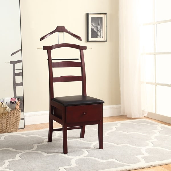 Gentil Manchester Mahogany Finish Chair Valet