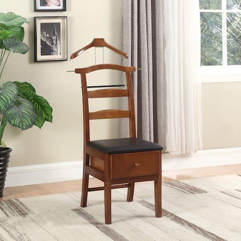 Executive Light Walnut Valet Chair