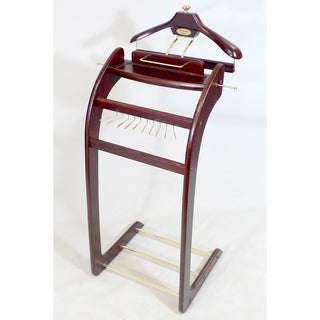 Windsor Signature Dark Mahogany with Brass Hardware Valet Stand
