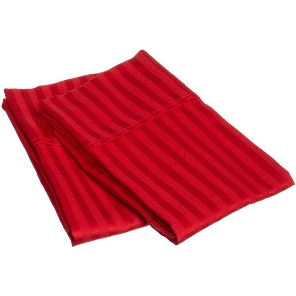 Superior 100-percent Premium Long-staple Combed Cotton 300 Thread Count Stripe Pillowcase Set