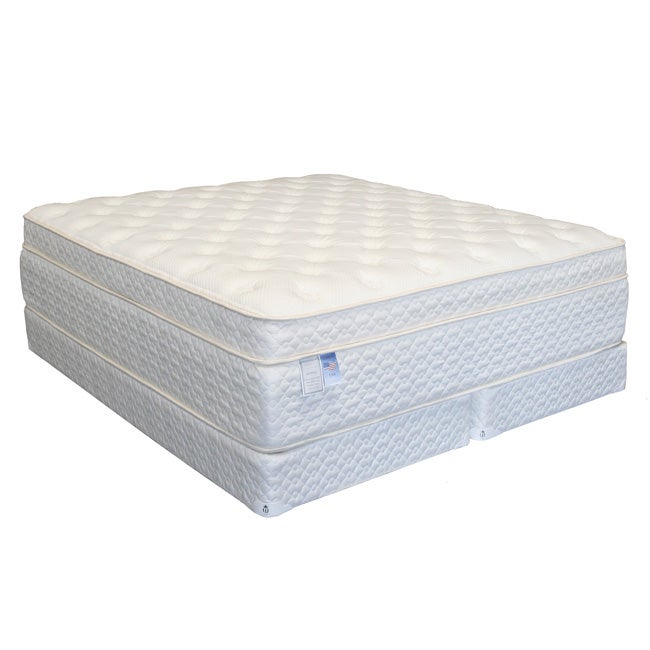 Serenity Euro Memory 18 Inch Queen Size Mattress Set Free Shipping Today