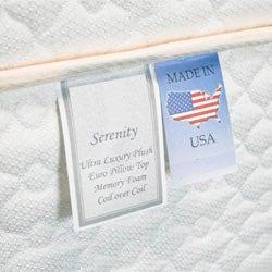 Serenity Euro-Memory 18-inch Queen-size Mattress Set - Thumbnail 1