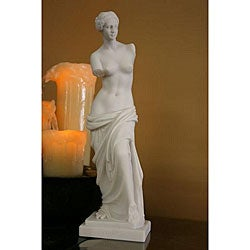 Decorative White Bonded Marble Aphrodite of Melos Statue