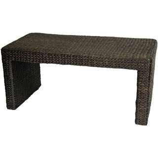 Handmade Rush Grass Coffee Table (China)