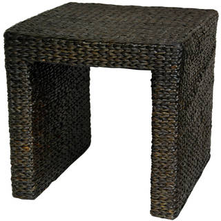 Handmade Rush Grass End Table (China)