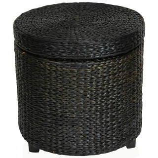 Handmade Rush Grass Storage Footstool (China)