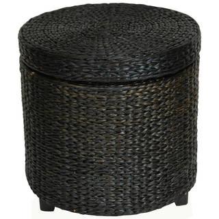 Handmade Rush Grass Storage Footstool (China)