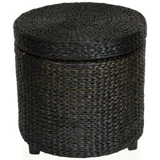 Rush Grass Storage Footstool (China)
