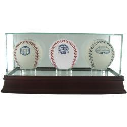 Glass Triple Baseball Case