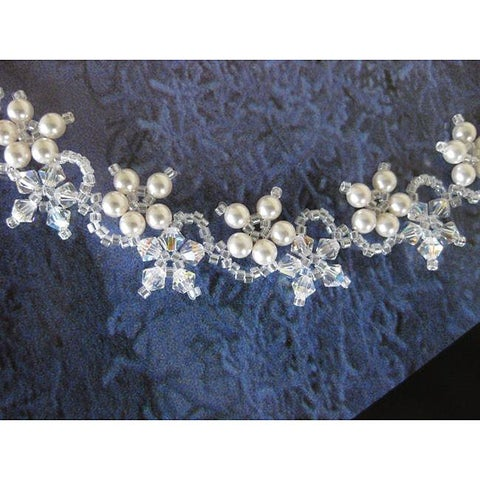 Handmade Stainless Steel Delicate Flower Crystal Necklace (USA)