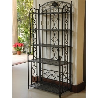 International Caravan Mandalay Iron 5-tier Baker's Rack