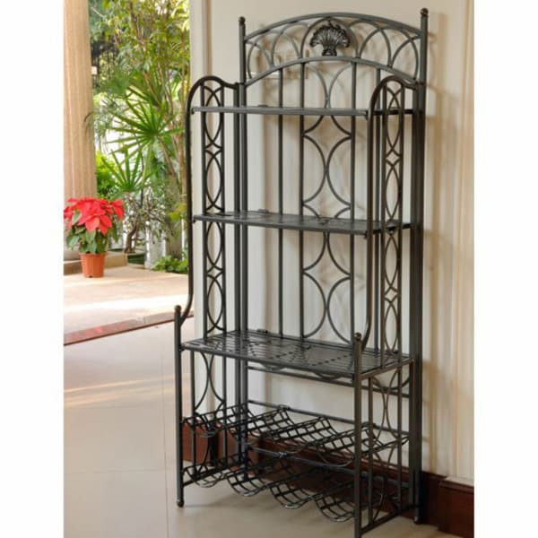 International Caravan Iron 5-tier Bakers Rack