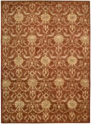 Nourison Hand Tufted Beaufort Rust Wool Rug (3'6 x 5'6) - Thumbnail 2