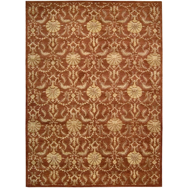 Nourison Hand Tufted Beaufort Rust Wool Rug (3'6 x 5'6)