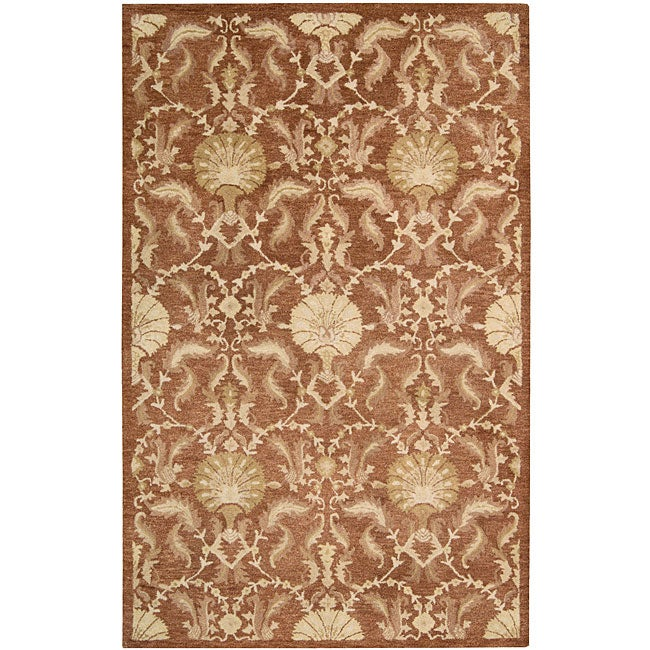 Nourison Hand Tufted Beaufort Rust Wool Rug (5'6 x 7'4)