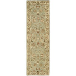 Nourison Hand Tufted Beaufort Light Green Wool Rug (2'3 x 8') Runner