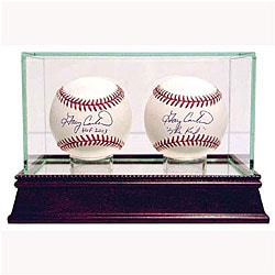 Glass Double Baseball Case