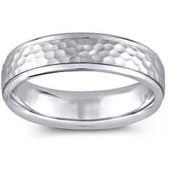14k White Gold Women's Hammered Design Comfort Fit Wedding Band (5.5 mm) https://ak1.ostkcdn.com/images/products/5085960/14k-White-Gold-Womens-Hammered-Design-Comfort-Fit-Wedding-Band-5.5-mm-P12942477a.jpg?impolicy=medium