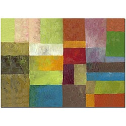 Michelle Calkins 'Abstract Color Panels IV' 16x24 Gallery-wrapped Canvas Art
