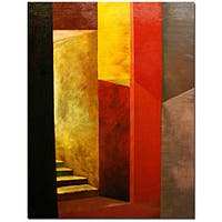 Michelle Calkins 'Mystery Stairway' Gallery-wrapped Canvas Art