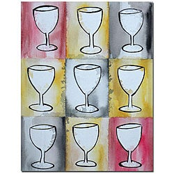 'Nicole Dietz' Wine on Repeat Canvas Art