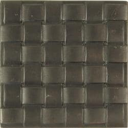 Basket Weave Dark Bronze Accent Tiles (Set of 4) - Thumbnail 1