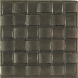 Basket Weave Dark Bronze Accent Tiles (Set of 4)