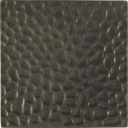 Hammered Dark Bronze 4-inch Accent Tiles (Set of 4)