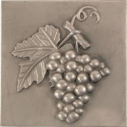 Grape Pewter 4-inch Accent Tiles (Set of 4)
