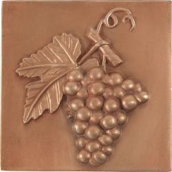 Grape Red Copper 4-inch Accent Tiles (Set of 4)