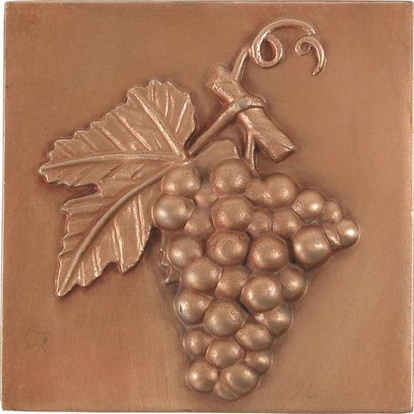 Shop Grape Red Copper 4 Inch Accent Tiles Set Of 4