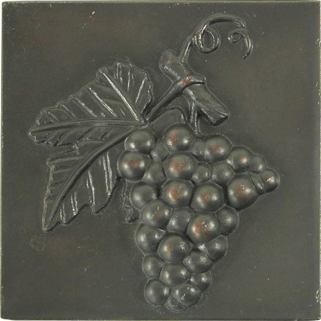 Grape Dark Bronze 4-inch Accent Tiles (Set of 4)
