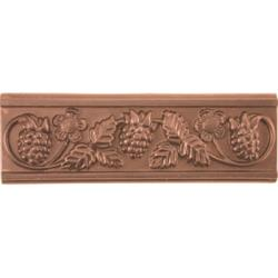 Grapevine Red Copper Finish Accent Tiles (Set of 4)