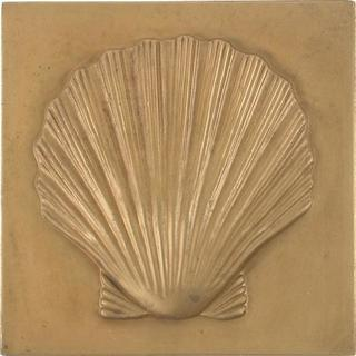 Shell Antique Brass 4-inch Accent Tiles (Set of 4)