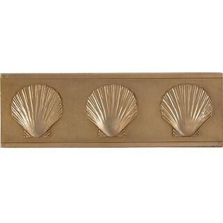 Shell Antique Brass Accent Tiles (Set of 4)