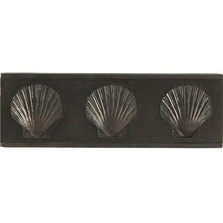 Dark Bronze Three Sea Shell Accent Tiles