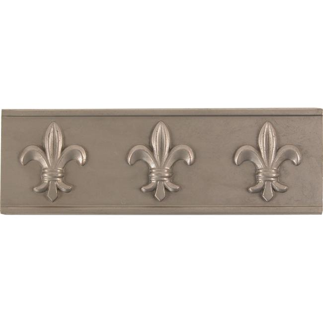 Fleur De Lis Pewter Accent Tiles (Set of 4)