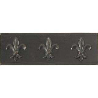 Fleur De Lis Dark Bronze Accent Tiles (Set of 4)