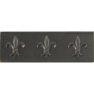 Fleur De Lis Dark Bronze Accent Tiles (Set of 4)