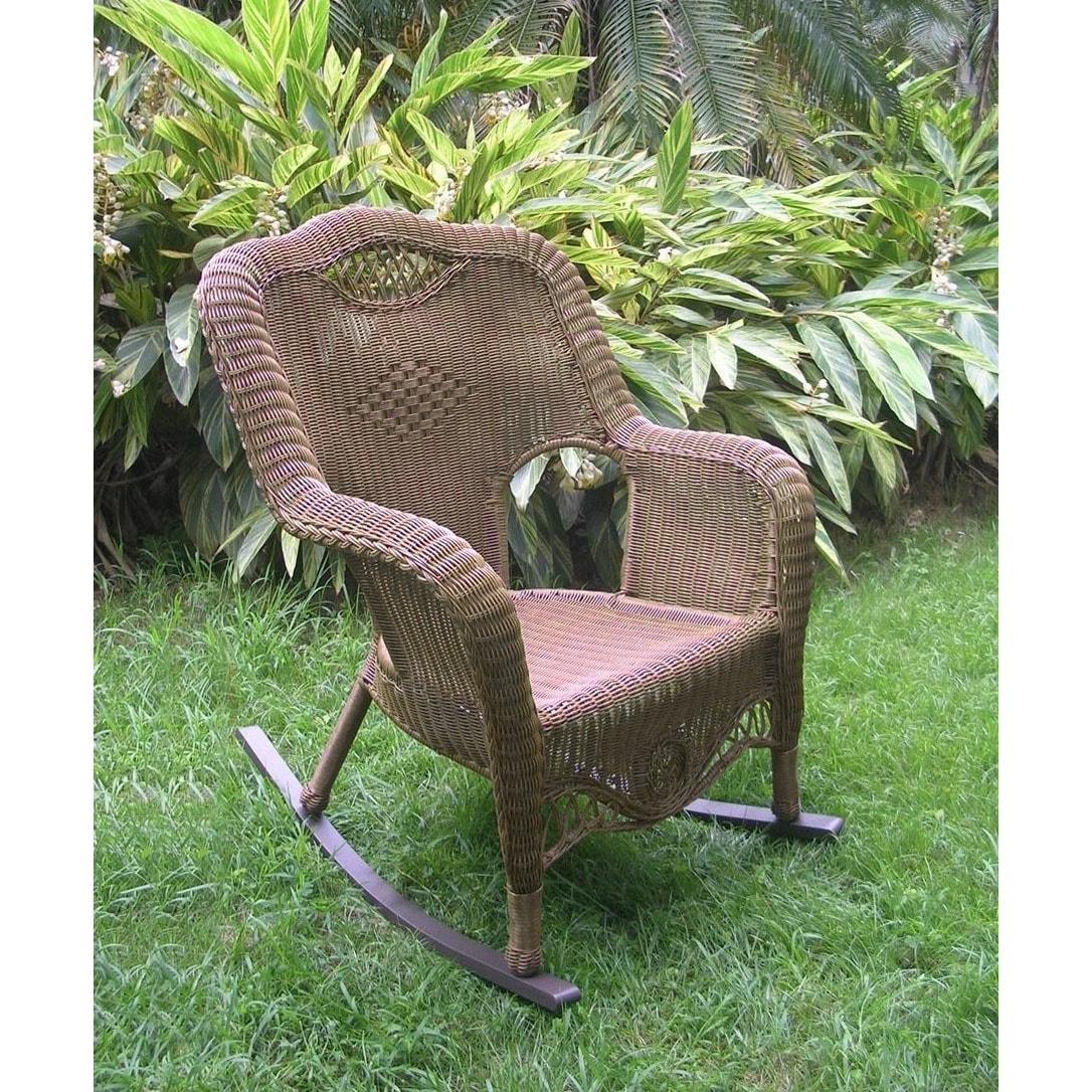 Pleasant International Caravan Resin Wicker Indoor Outdoor Rocker Inzonedesignstudio Interior Chair Design Inzonedesignstudiocom