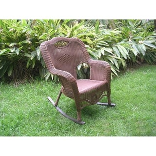 International Caravan Resin Wicker Indoor/Outdoor Rocker (4 options available)