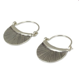 Handcrafted Silver Diva Hoop Style Karen Hill Tribe Fashon Earrings (Thailand)