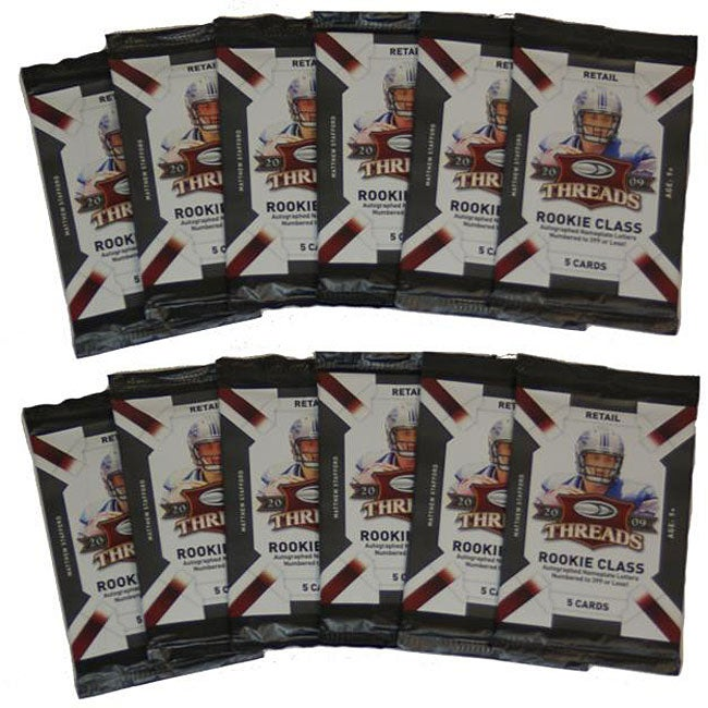 NFL 2009 Donruss Threads 12-pack Trading Cards